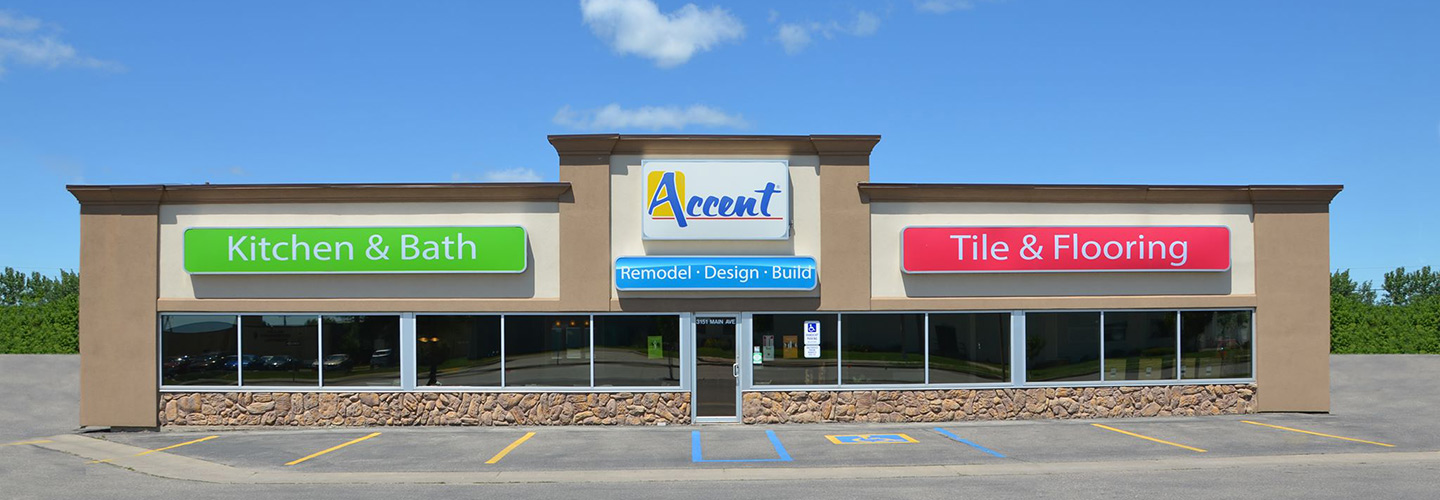 The showroom of Accent Flooring & Tile in Fargo, ND